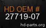 hd 27719-07 genuine part number