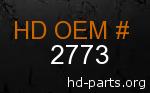 hd 2773 genuine part number
