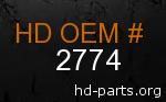 hd 2774 genuine part number