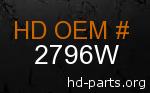 hd 2796W genuine part number