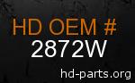 hd 2872W genuine part number