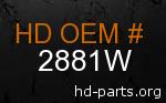 hd 2881W genuine part number
