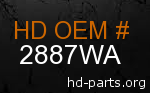 hd 2887WA genuine part number