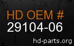 hd 29104-06 genuine part number