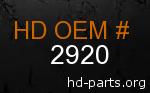 hd 2920 genuine part number