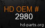 hd 2980 genuine part number