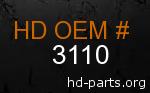 hd 3110 genuine part number