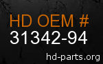 hd 31342-94 genuine part number