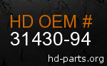 hd 31430-94 genuine part number