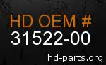 hd 31522-00 genuine part number