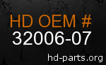 hd 32006-07 genuine part number