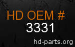 hd 3331 genuine part number
