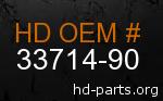 hd 33714-90 genuine part number