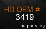 hd 3419 genuine part number