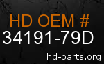 hd 34191-79D genuine part number