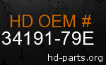 hd 34191-79E genuine part number