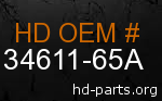 hd 34611-65A genuine part number