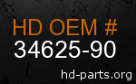hd 34625-90 genuine part number
