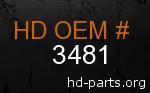 hd 3481 genuine part number