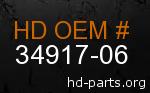 hd 34917-06 genuine part number