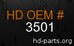 hd 3501 genuine part number