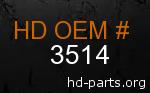 hd 3514 genuine part number