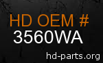 hd 3560WA genuine part number