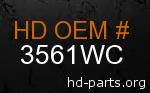 hd 3561WC genuine part number
