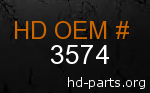 hd 3574 genuine part number