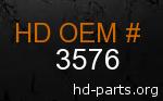 hd 3576 genuine part number
