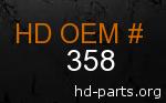 hd 358 genuine part number