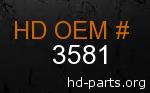 hd 3581 genuine part number