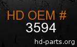 hd 3594 genuine part number