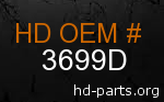 hd 3699D genuine part number