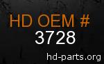 hd 3728 genuine part number