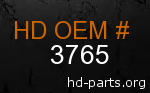 hd 3765 genuine part number
