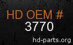 hd 3770 genuine part number