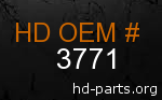 hd 3771 genuine part number