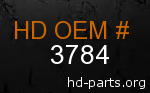 hd 3784 genuine part number