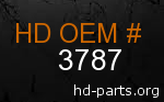 hd 3787 genuine part number