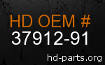 hd 37912-91 genuine part number