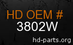 hd 3802W genuine part number