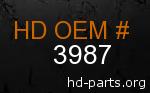 hd 3987 genuine part number