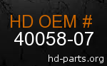 hd 40058-07 genuine part number
