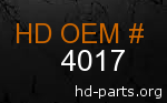 hd 4017 genuine part number