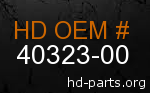 hd 40323-00 genuine part number