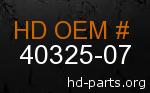 hd 40325-07 genuine part number