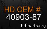 hd 40903-87 genuine part number