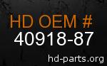 hd 40918-87 genuine part number