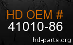 hd 41010-86 genuine part number